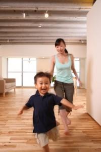 子どもママ走る