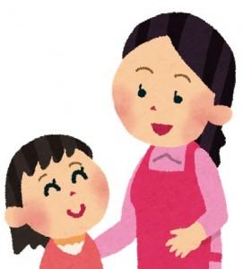 ママと会話女の子ども