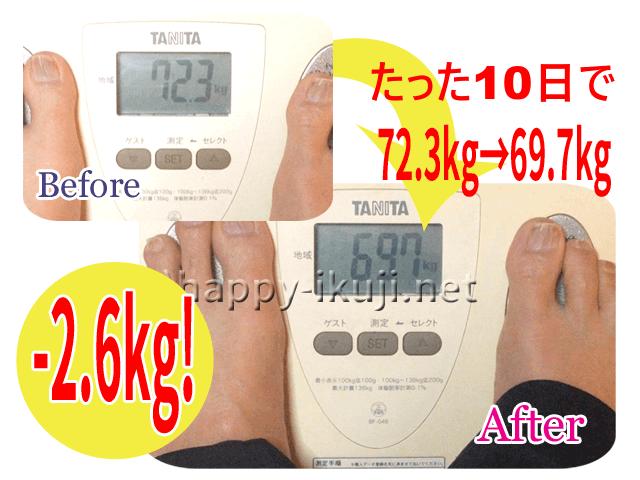 産後72キロから10日で約3キロダウン(2.6キロ)産後ダイエット成功体験談