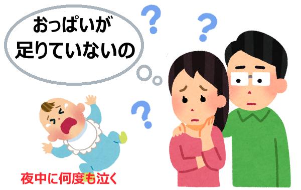 母乳不足で泣く3