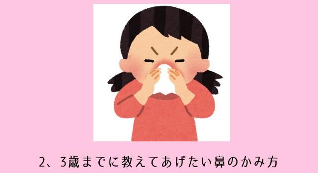 子どもに鼻をかませたい!小さい子どもに鼻のかみ方を教える練習方法