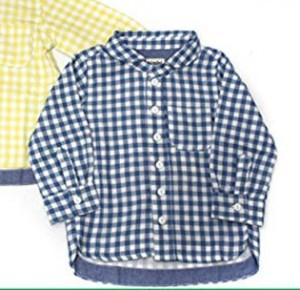 t/mini ギンガムシャツ