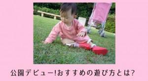 公園デビュー遊び方