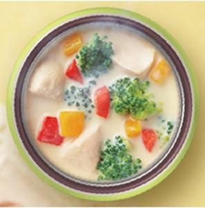 彩り野菜と豆乳スープ