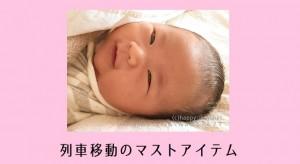 生後1カ月で新幹線・特急列車で移動!お出かけで絶対必要な持ち物7選